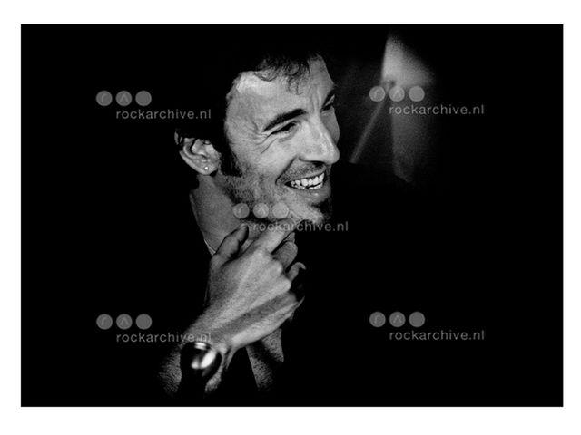 Michel Linssen, Fine art digital print, signed and numbered, Bruce Springsteen, 1988