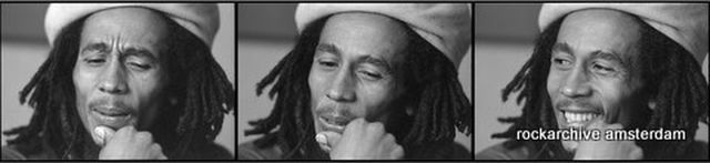 Brian Moody, Fine art digital print, signed and numbered, Bob Marley, London 1976, triptych,