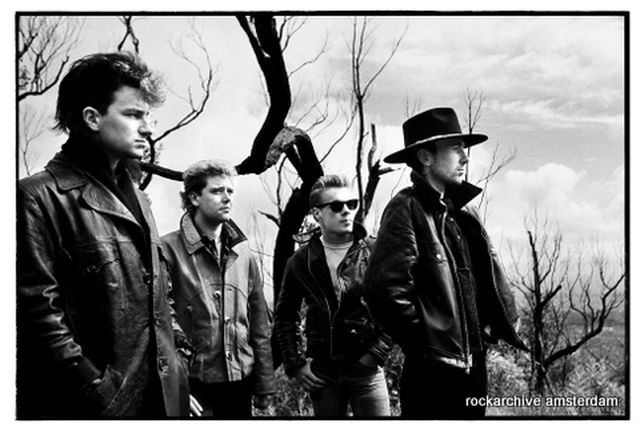 Kees Tabak, Fine art digital print on baryted paper, signed and numbered, U2, Perth Australia1984,