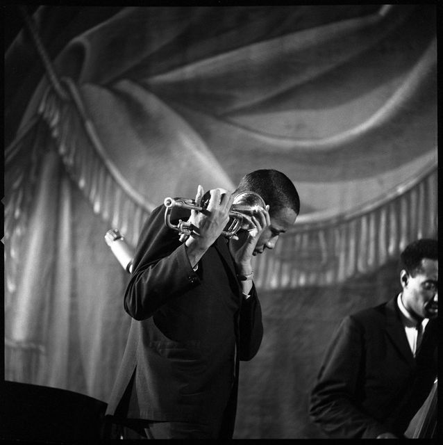Jean-Pierre Leloir, Silver Gelatin Print, estate stamp, with certificate, Lee Morgan, Champs Elysees, Paris 1959,