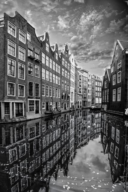 Alexandre Coric, Fine art digital print, signed , Reflections of Amsterdam,