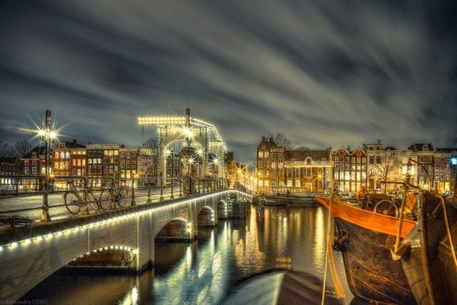 Alexandre Coric, Fine art digital print, signed, Amsterdam, skinny bridge, 2014