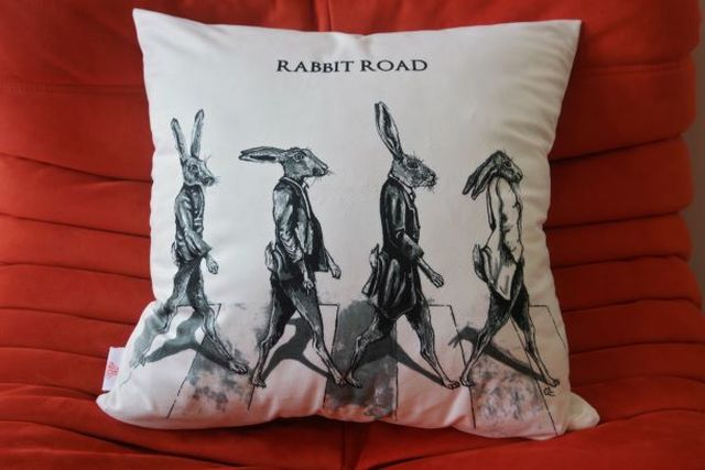 Catherine Fines, Print on high quality velvet, Rabbit Road, 2015