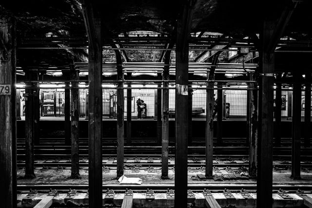 Alexandre Coric, Fine art digital print, signed, New York Subway, 2018