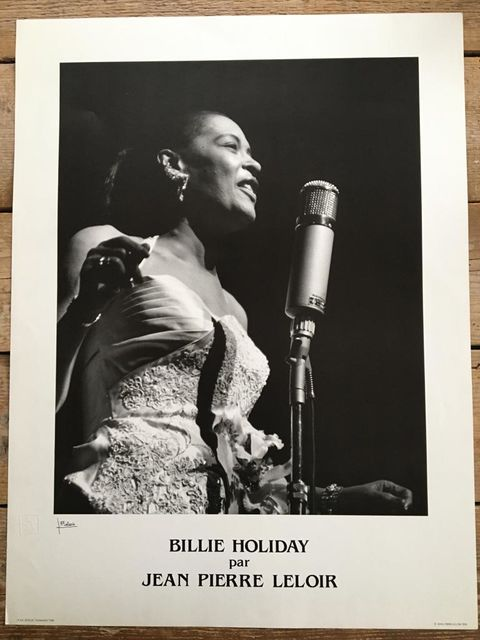 Jean-Pierre Leloir, Poster, embossed, signed, original poster Billie Holiday, 1958