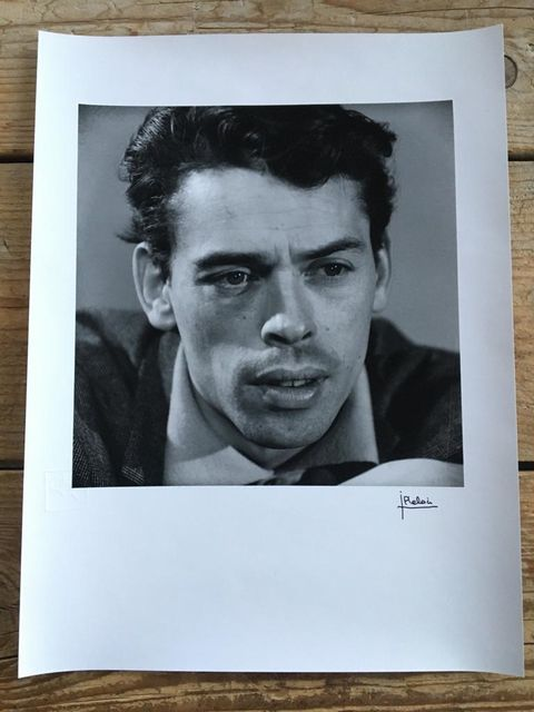Jean-Pierre Leloir, Original dark-room silver gelatine print, signed, embossed, Jacques Brel, Paris 1959, 1959