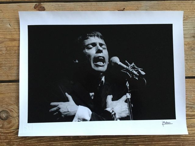 Jean-Pierre Leloir, Original dark-room silver gelatine print, signed, embossed, Jacques Brel, Paris 1967, 1967