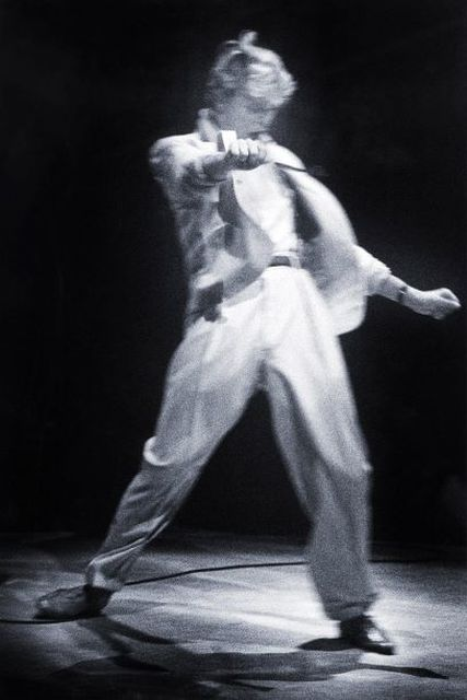 Gie Knaeps, Fine art digital print, signed and numbered, David Bowie, Brussels, 1983